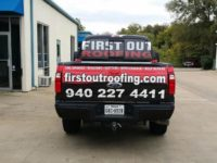 First Out Truck Wrap