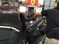 Black Window Tint on a Ferrari