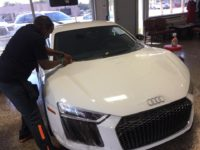 Paint Protection on White Audi