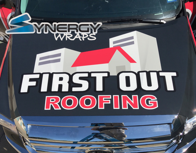 Truck Wrap Roof - First Out Roofing Lake Dallas