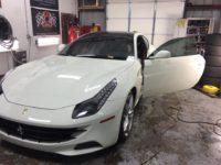 Paint Protection on White Ferrari